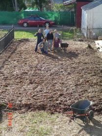 sheet mulch completed